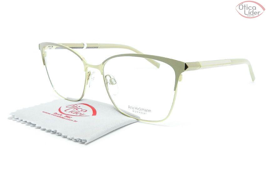 378d54574 Óculos Ana Hickmann AH1364 04a 54 Metal Dourado / Rosado - 12x sem ...