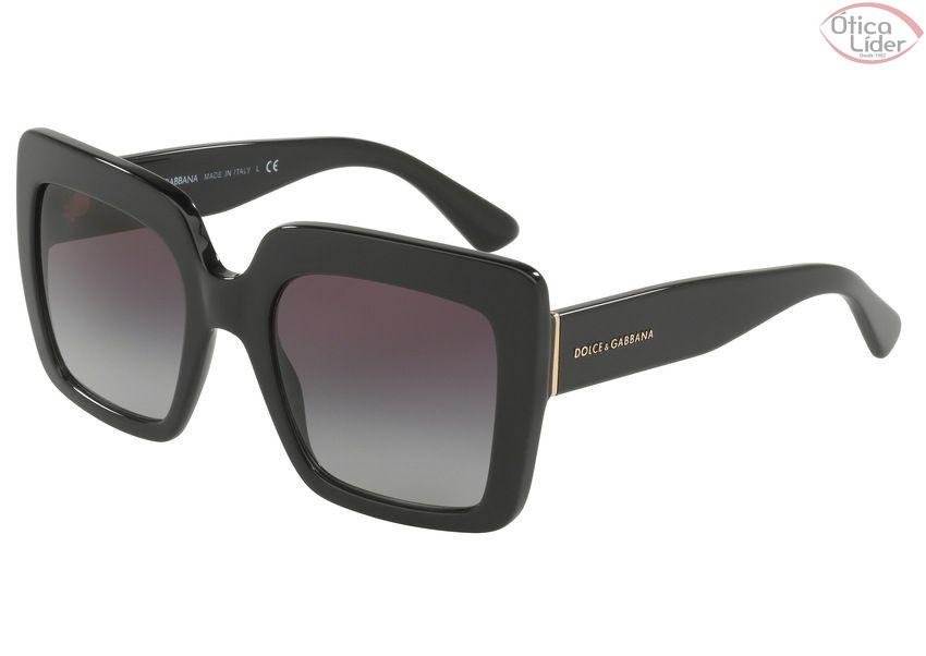 5275f89c4 Dolce & Gabbana DG4310 501/8g 52 Acetato Preto - 12x sem juros ou 20 ...