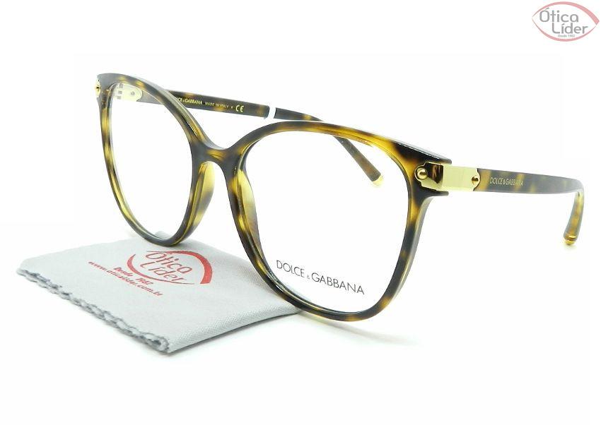 2e7f7904a6c8e Dolce   Gabbana DG5035 502 55 Acetato Havana   Dourado - 12x sem juros ou  20% OFF na Ótica Líder