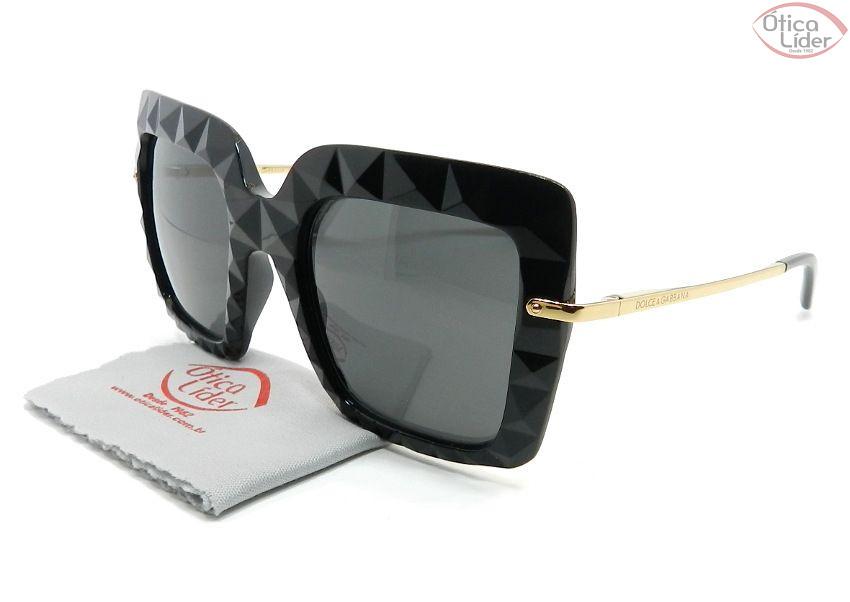 Dolce   Gabbana DG6111 501 87 51 Acetato Preto   Dourado - 12x sem ... af408a7b5c