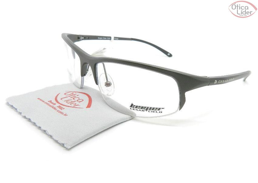 1413cc9f5cf1e Óculos de Grau Keeper KE3001 M.D. Gun 56 fny Cesar Cielo Aluminium Grafite