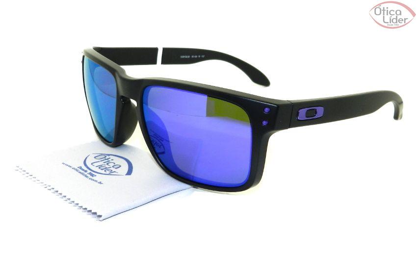 7c24387ae Oakley OO9102/26 55 Holbrook Acetato Preto Espelhado Roxo - 12x sem juros  ou 20% OFF na Ótica Líder