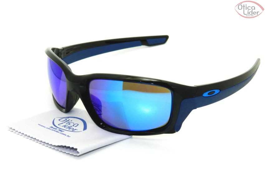 1d3bccc1f Oakley OO9331/04 61 Straightlink Acetato Preto Azul Espelhado - 12x ...