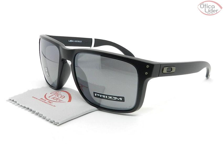 c59cb0f79 Oakley OO9417 0559 59 Holbrook XL Preto Semi-Espelhado Polarizado ...