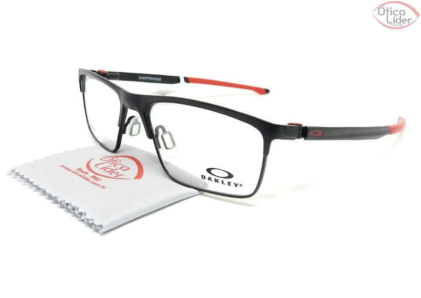 0eedeffcf7 Oakley OX5137 0454 54 Cartridge Titanium Preto   Vermelho - 12x sem ...
