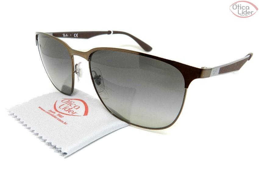 a022268a53927 Óculos de Sol Ray-Ban RB3569 121 11 59 Metal Bronze   Prata - 12x ...