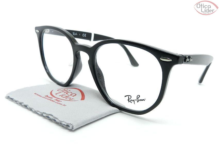 Óculos de Grau Ray-Ban RX7151 52 Hexagonal Acetato - Várias Cores ... 67187f4f87