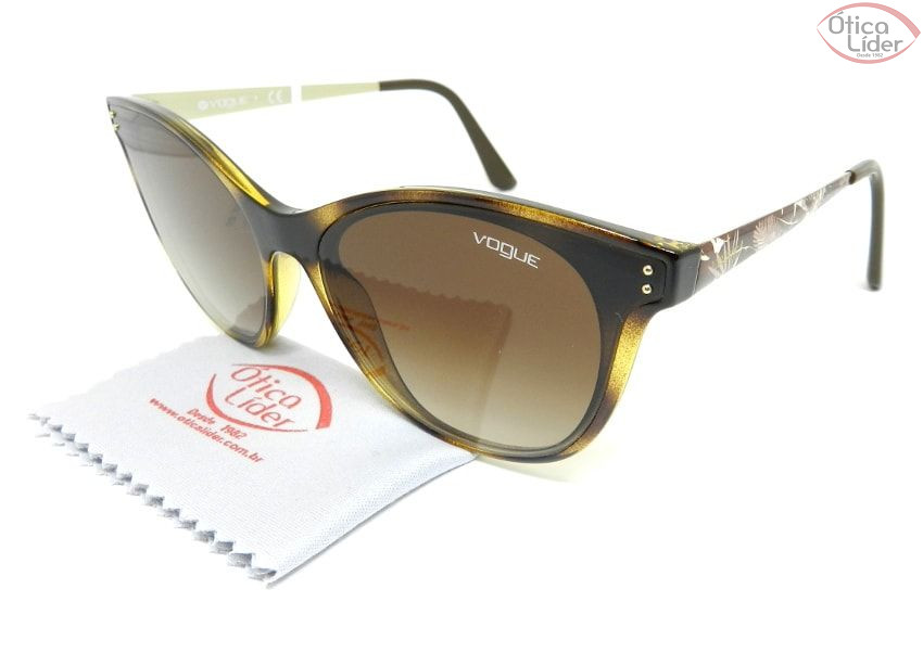 70ba917b0efde Vogue VO5205-s w656 13 62 Acetato Mesclado   Metal Decorado   Dourado