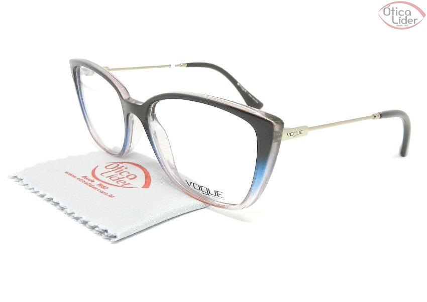 46d022acc7817 Vogue VO5249-l 2664 52 Acetato Marrom Transparente   Metal Rosado - 12x sem  juros ou 20% OFF na Ótica Líder