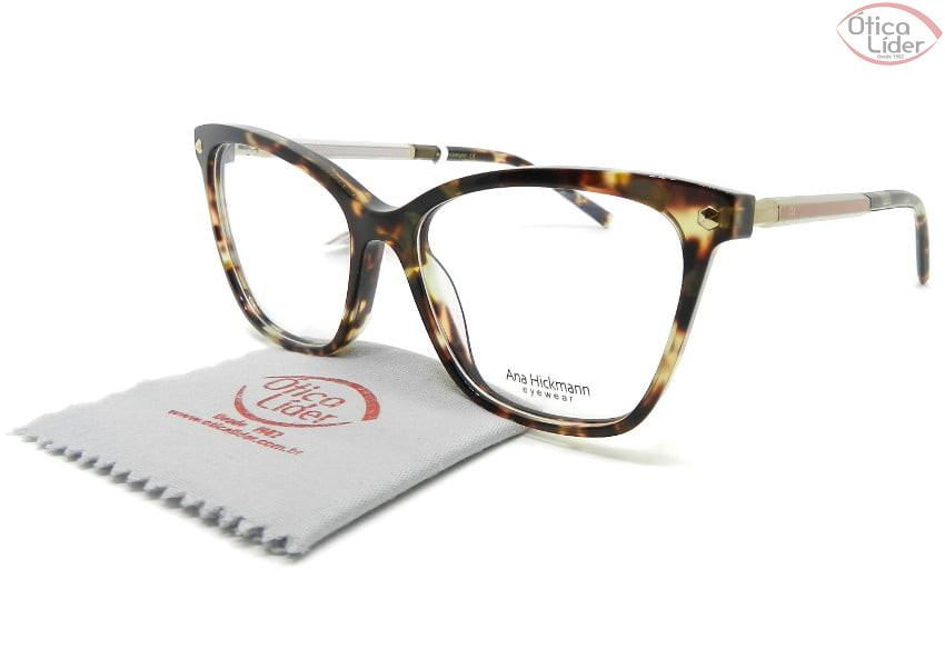 Óculos Ana Hickmann AH6360 g22 54 Acetato Mesclado / Rosa