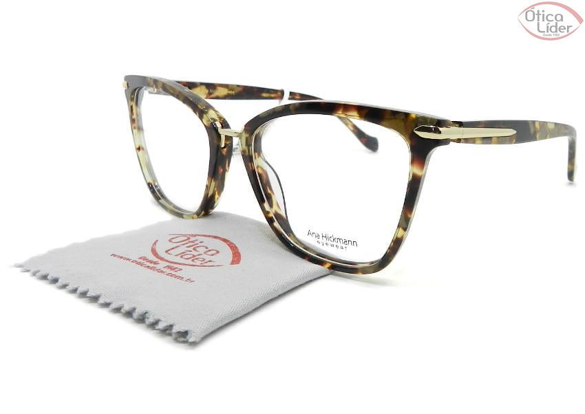 Óculos Ana Hickmann AH6363a g21 54 Acetato Mesclado / Dourado