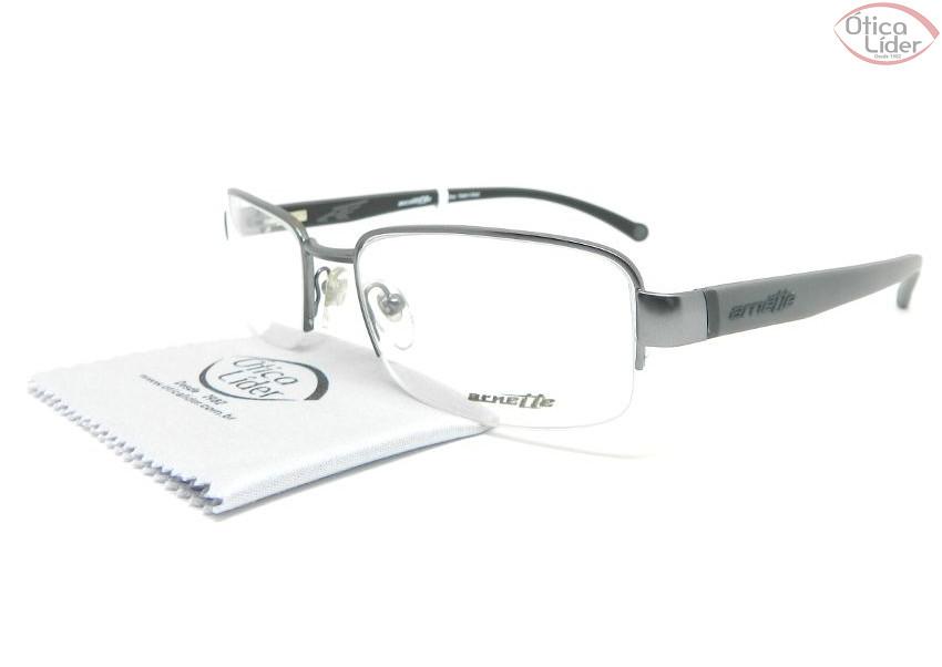 Arnette AN 6095l 612 54 fny Metal Prata   Acetato Cinza - 12x sem ... b9b424160b