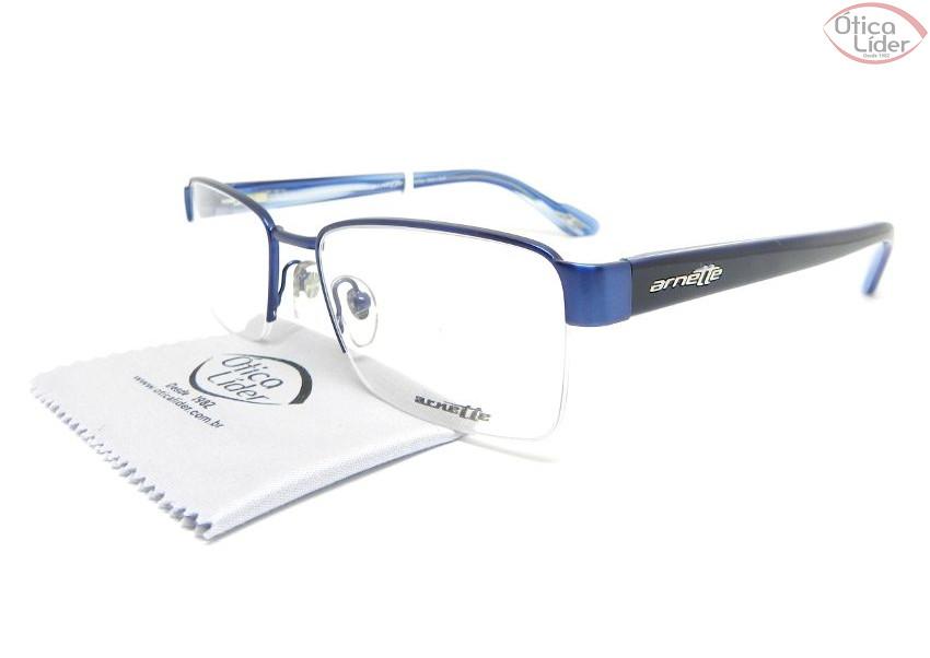 Arnette AN 6107l 656 54 Metal   Acetato Azul - 12x sem juros ou 20 ... ff8a77532a