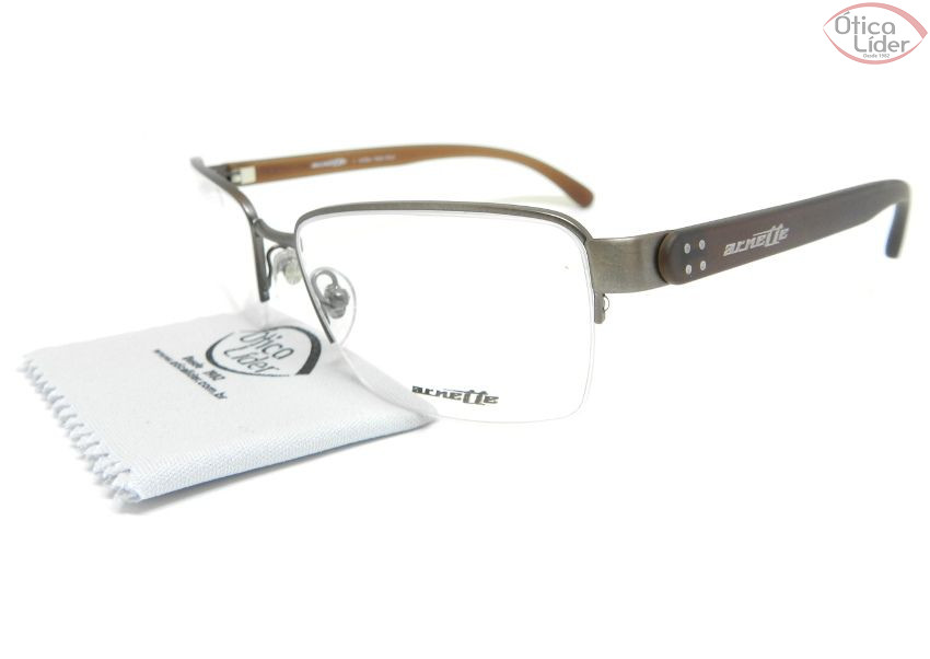 Arnette AN6117l 701 55 fny Metal Chumbo / Acetato Marrom