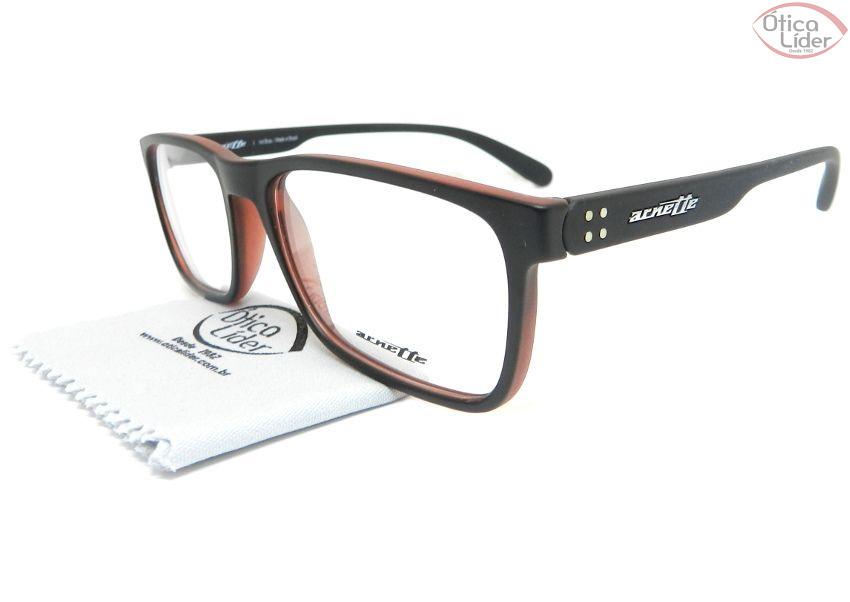 Arnette AN7141l 2514 55 Acetato Preto / Vermelho