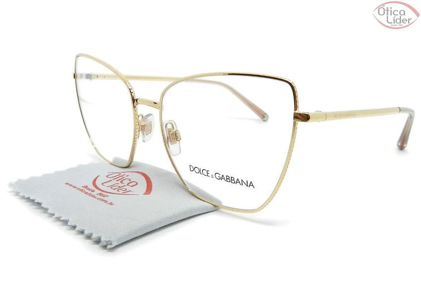 Dolce & Gabbana DG1314 1298 56 Metal Dourado Rosado