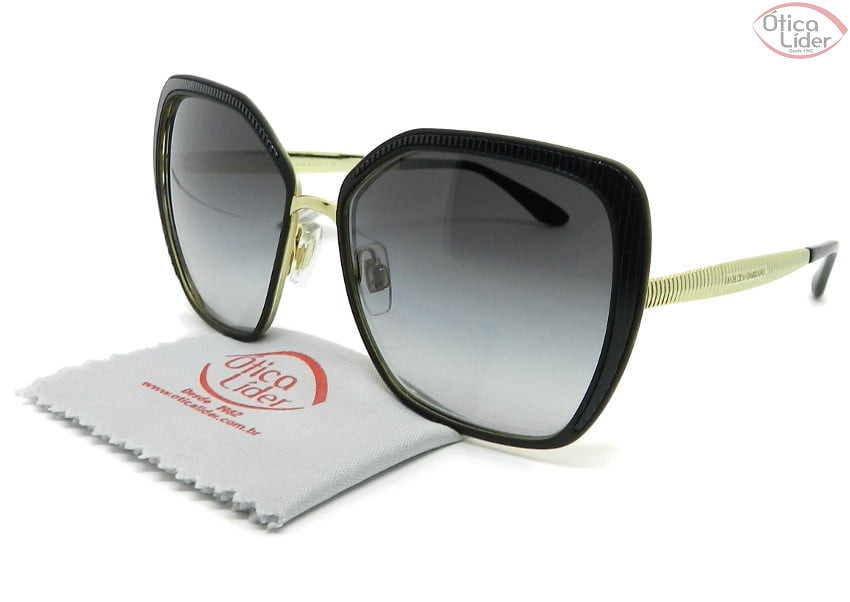 Dolce & Gabbana DG2197 1312/8g 56 Metal Dourado / Preto