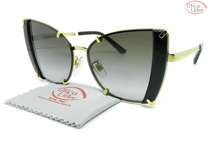 Dolce & Gabbana DG2214 02/8g 53 Metal Dourado / Preto