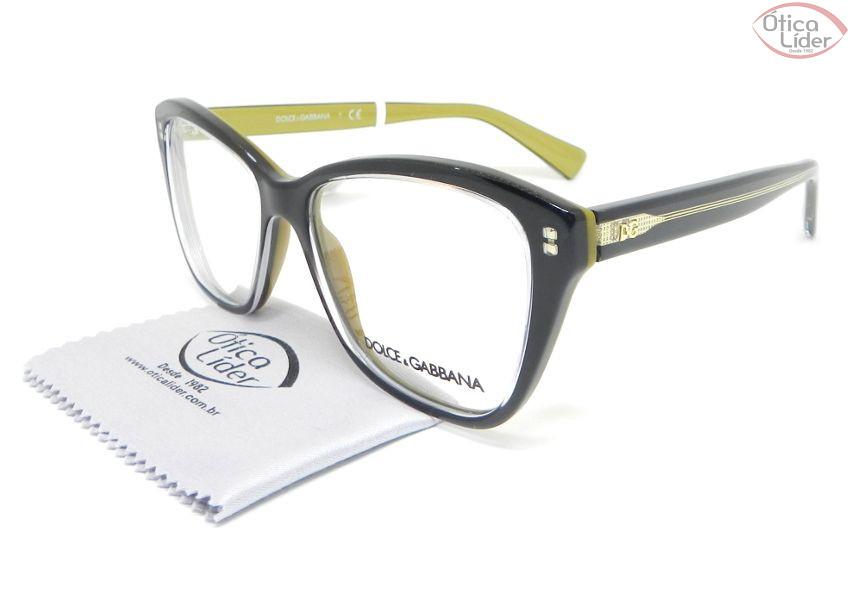 Dolce & Gabbana DG3249 2955 53 Acetato Preto / Dourado