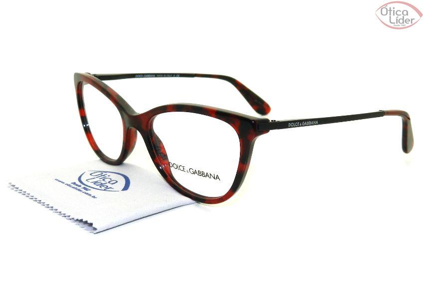 Dolce   Gabbana DG 3258 2889 52 Acetato Mesclado   Preto - 12x sem ... e0b3f88581