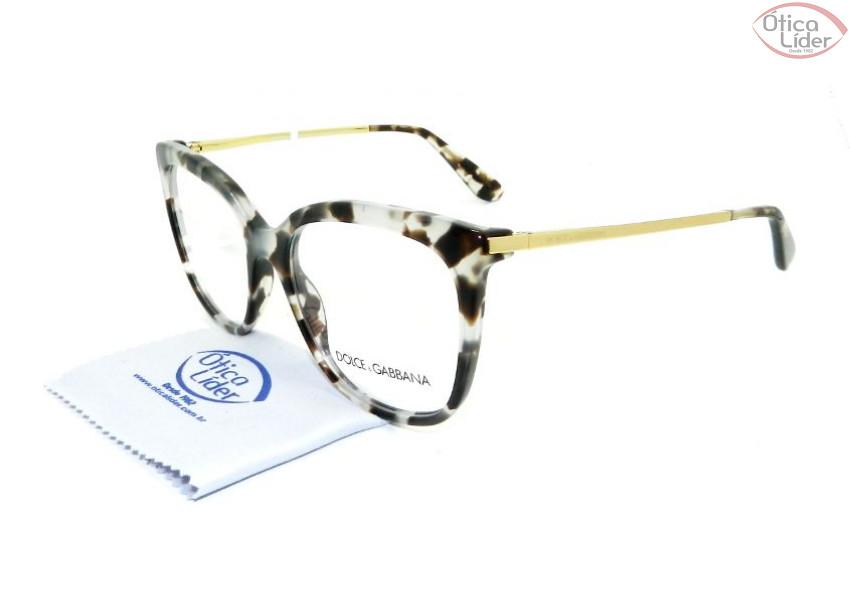 Óculos Dolce   Gabbana DG 3259 2888 53 Acetato Mesclado   Dourado ... ce8eb14eea