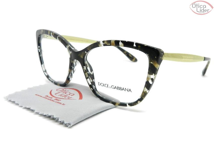 Dolce & Gabbana DG3280 911 54 Acetato Mesclado / Dourado
