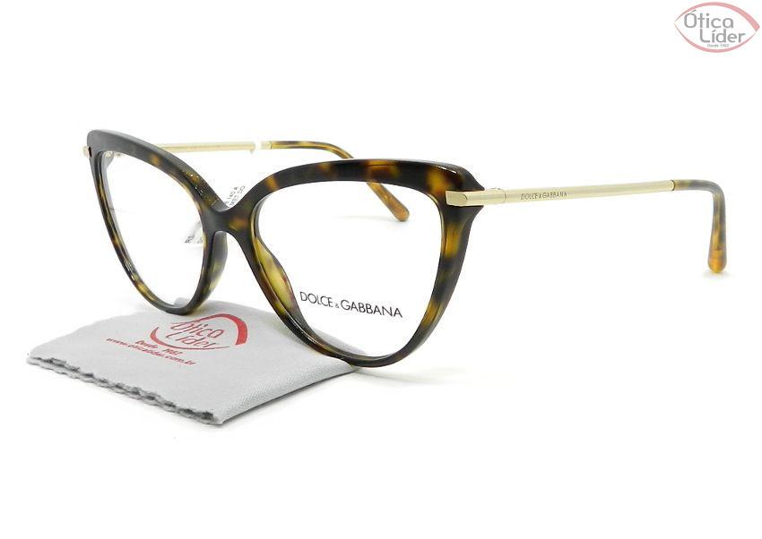 Dolce & Gabbana DG3295 502 55 Acetato Havana / Metal Dourado