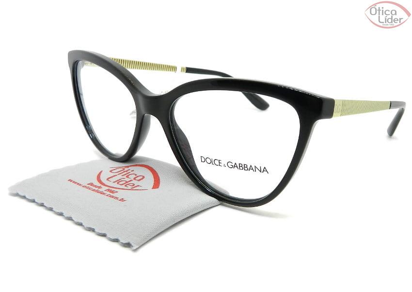 Dolce & Gabbana DG3315 501 55 Acetato Preto / Dourado