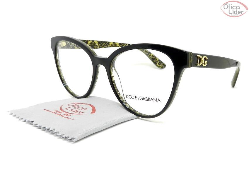 Dolce & Gabbana DG3320 3215 53 Acetato Preto / Glitter Dourado