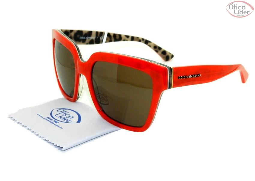 Dolce & Gabbana DG4234 2885/73 57 Acetato Vermelho / Leopardo