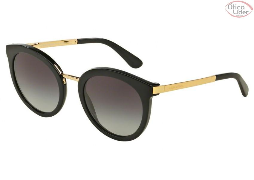 Dolce & Gabbana DG4268 501/8g 52 Acetato Preto / Dourado