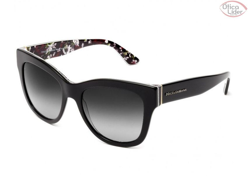 5bd9d4a0d Dolce & Gabbana DG4270 3021/8g 55 Acetato Preto / Floral - 12x sem ...