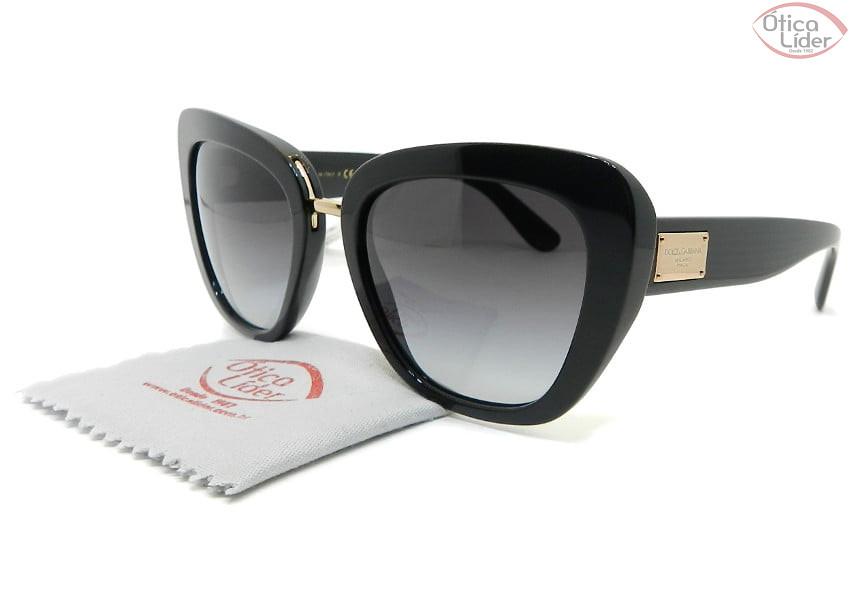 Dolce & Gabbana DG4296 501/8G 53 Acetato Preto / Dourado