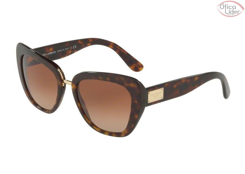Dolce   Gabbana DG 4296 502 13 53 Acetato Demi   Metal Dourado - 12x ... 7a58c4f6f8