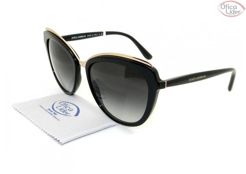 Dolce   Gabbana DG4304 501 8g 57 Acetato Preto - 12x sem juros ou 20 ... b92ad52caa