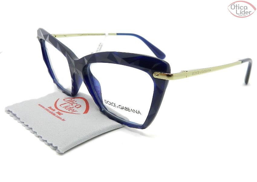 Dolce & Gabbana DG5025 3094 53 Acetato Azul Transparente / Dourado