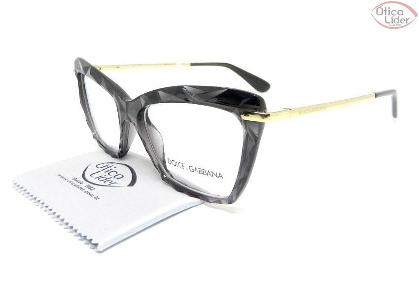3f8bac12a888a Dolce   Gabbana DG5025 504 53 Acetato Cinza Cristal   Metal Dourado ...
