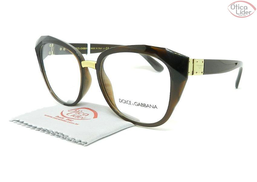 Dolce & Gabbana DG5041 3159 53 Acetato Marrom / Dourado