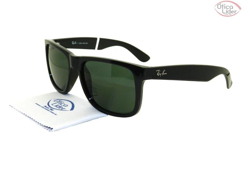 8cc48ef731d10 Óculos de Sol RAY-BAN JUSTIN RB4165L 601 71 55 Acetato Preto - 12x ...
