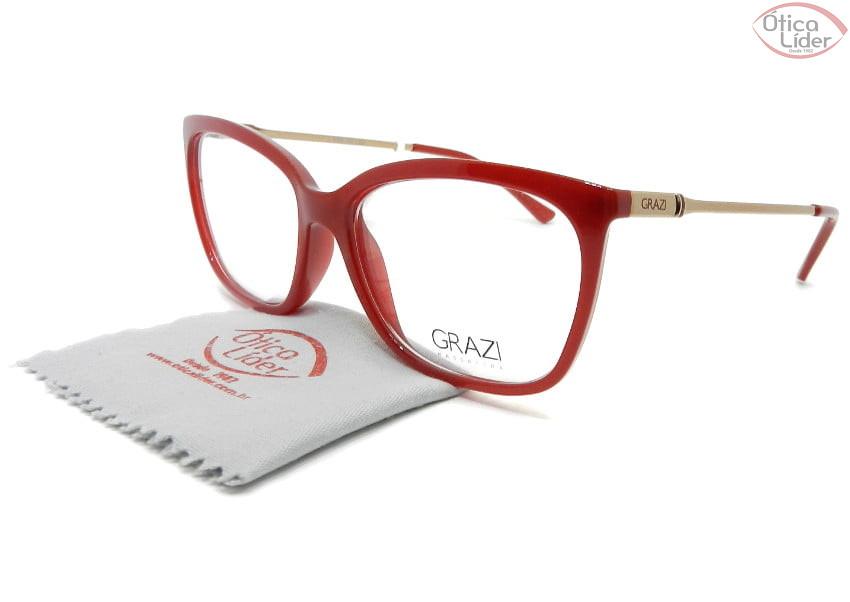 Grazi Massafera GZ3016 g898 53 Acetato Vermelho / Rosado