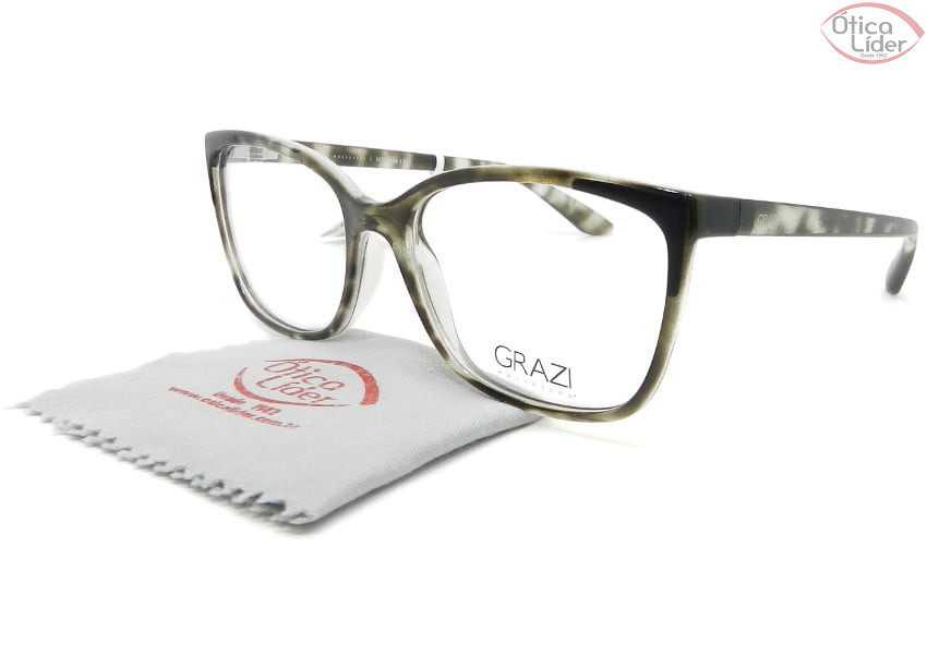 Grazi Massafera GZ3058 g090 53 Acetato Havana Cinza Transparente
