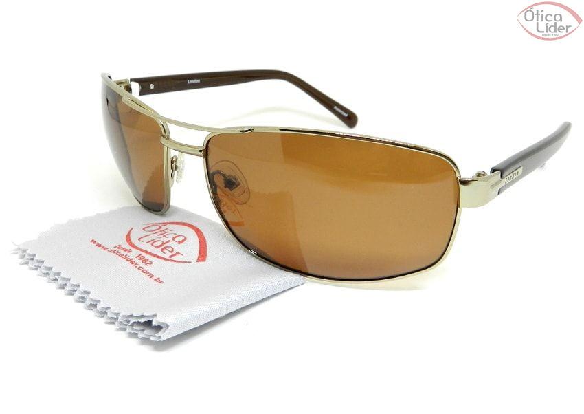 Óculos London LO 607 col.ts 67 Metal Dourado / Acetato Marrom