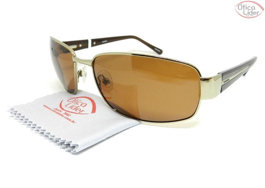 Óculos London LO 612 col.ts 63 Metal Dourado / Acetato Marrom