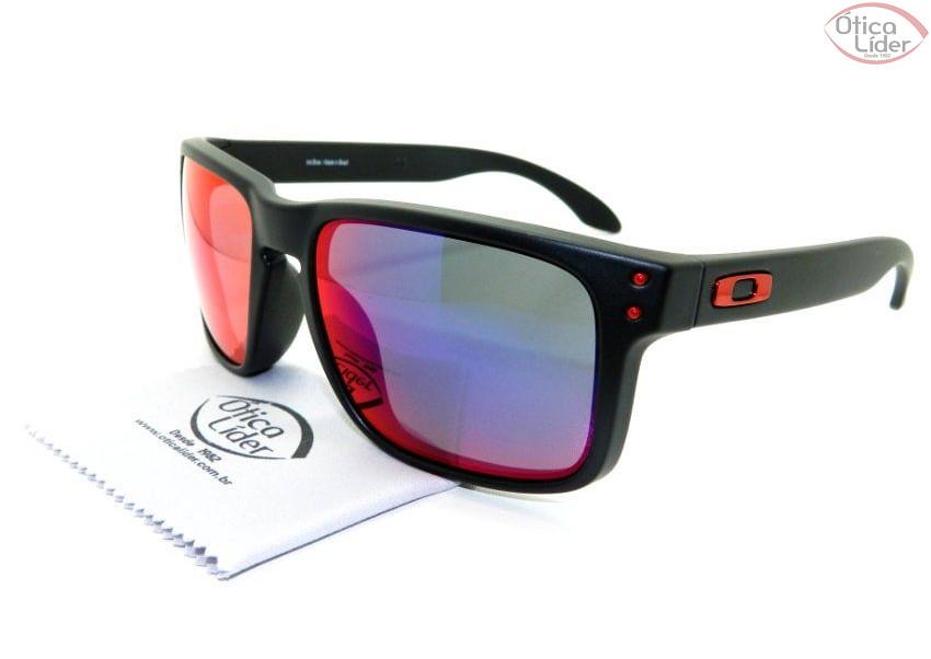 ced546fa9a38f Oakley OO9102l 36 55 Holbrook Red Iridium Acetato Preto Espelhado ...