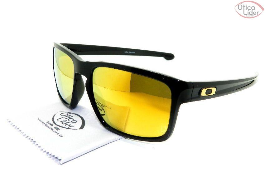 Oakley OO9262/05 57 Sliver Acetato Preto Espelhado Amarelo