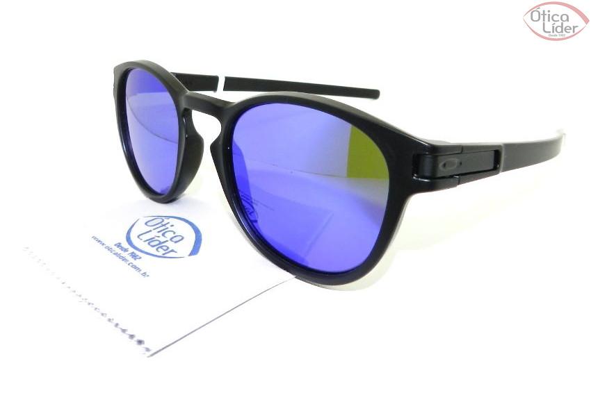 Oakley OO 9265 06 53 Latch Acetato Preto Espelhado Roxo - 12x sem ... 3801d25308