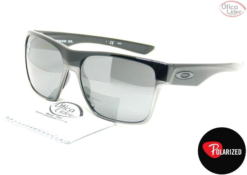 Oakley OO9350 01 59 Twoface XL Acetato Preto / Metal Prata Polarizado