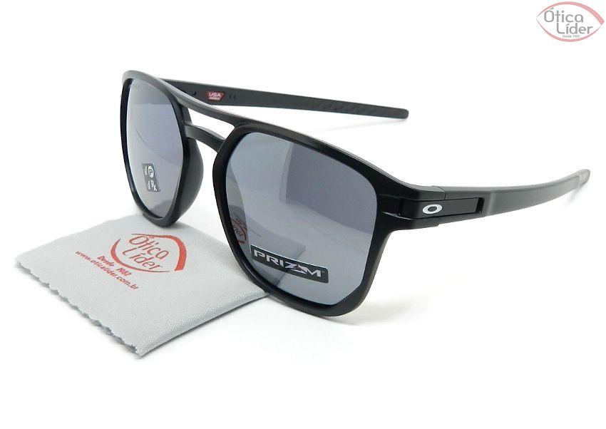 Oakley OO9436 0554 54 Latch Beta Preto Semi-Espelhado Polarizado