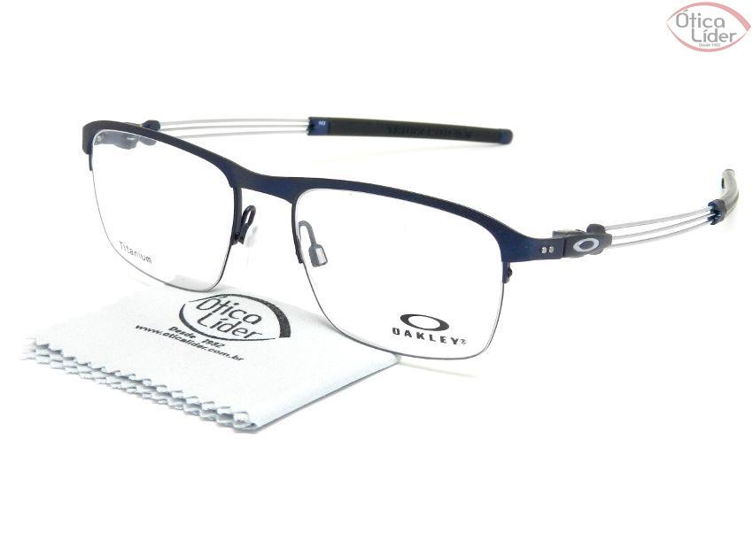 2cc87cff0 Oakley OX5123 03 52 Truss Rod 0.5 Titanium Azul / Prata - 12x sem ...