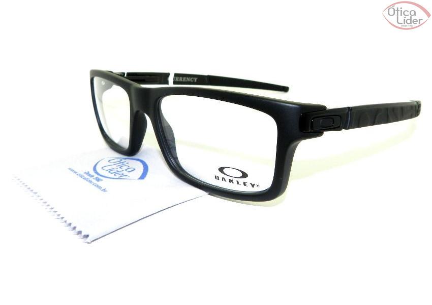 36316b29d5aee Oakley OX 8026 0154 54 Currency Acetato   Metal Preto - 12x sem ...